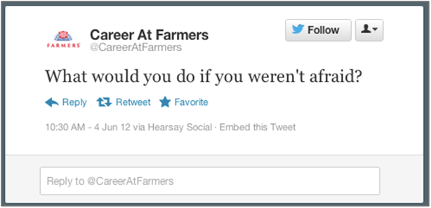 Farmer's Insurance Tweet