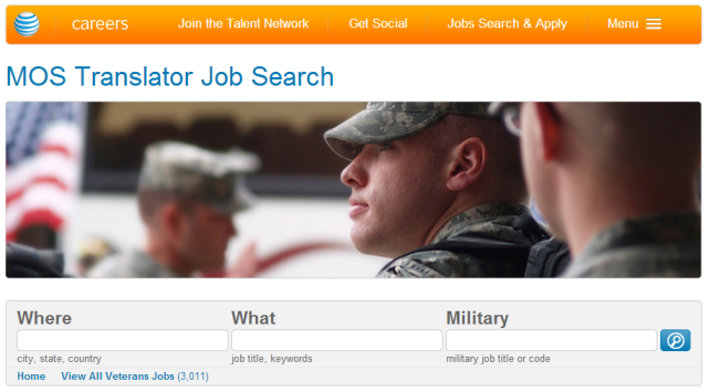 ATT MOS Translator Job Search