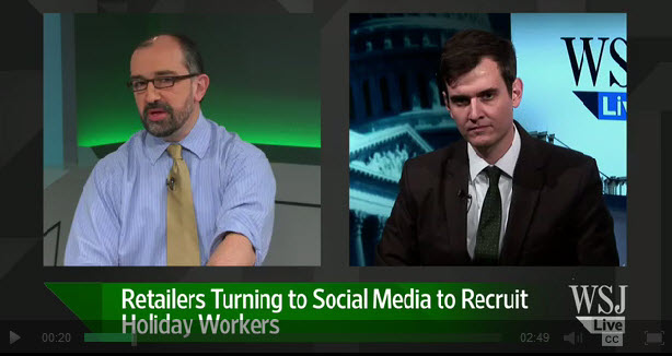 WSJ social media holiday hires video