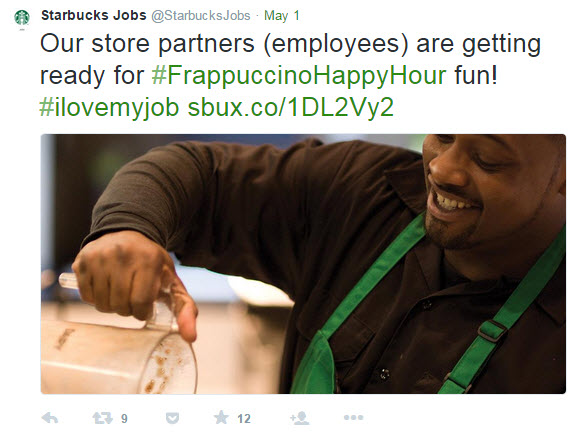 Starbucks brand hashtags