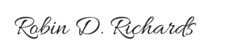 Robin D. Richards Signature