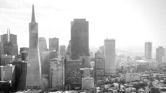 tech bubble silicon valley san francisco skyline