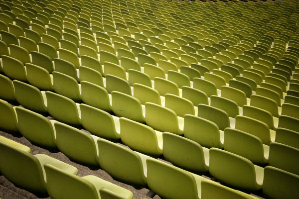 yellow seats bleachers