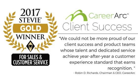 stevie award careerarc quote 2017