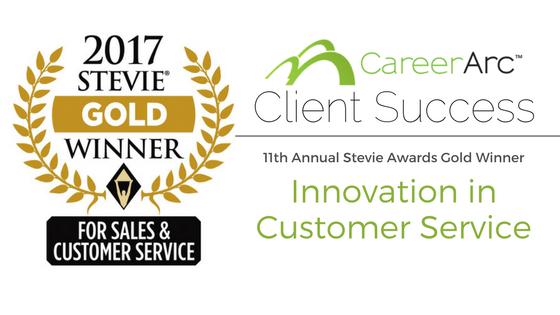 CareerArc Wins Gold Stevie Award for Customer Service