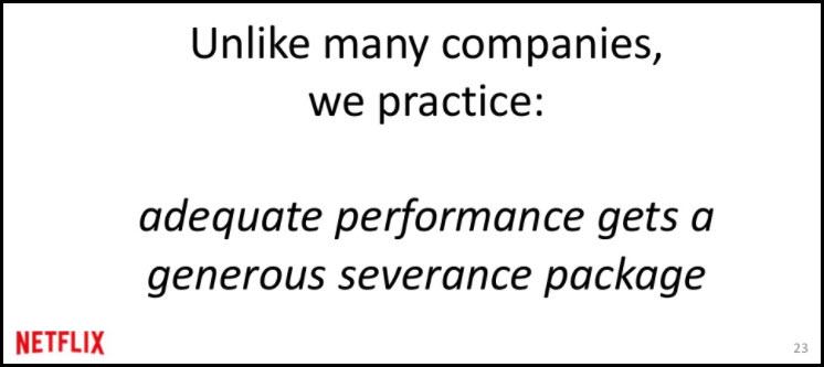 netflix culture deck adequate performance severance