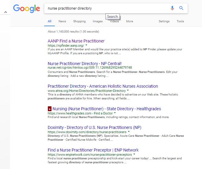 healthcare sourcing nurses directory