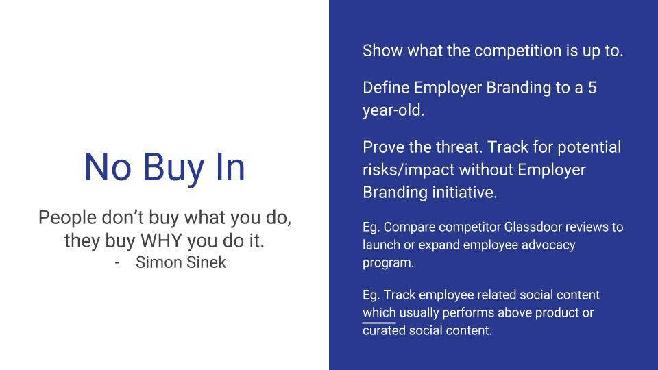 No Buy In Employer Branding