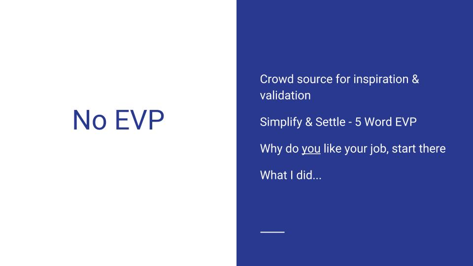 No EVP Employer Branding