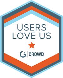 g2crowd users love us badge