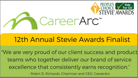 careerarc stevie awards 2018 quote