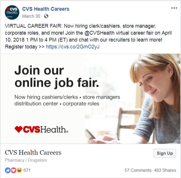 CVS Health FB Post