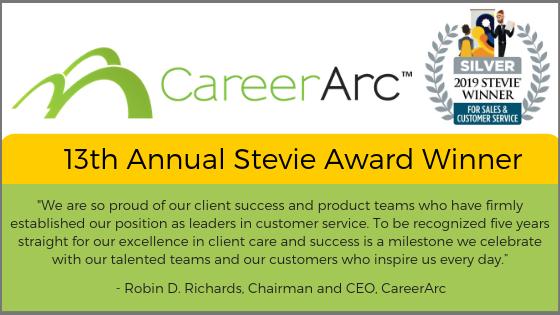 CareerArc Stevie Winner