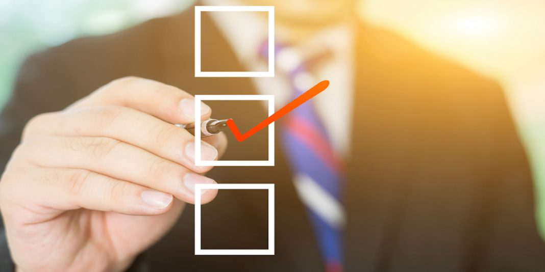 employee termination checklist with one box checked off