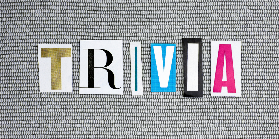 Cut out letters that spell trivia.