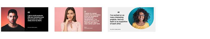Employee quote templates for social media