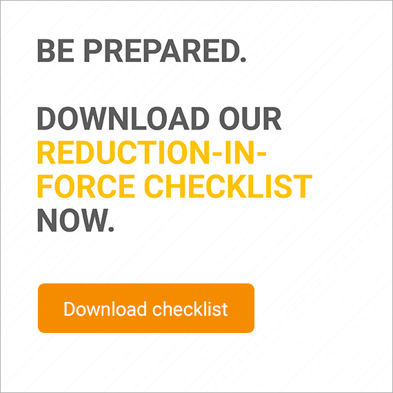 reduction in force checklist call to action