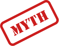 myth stamped in red