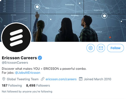 an example of a career page, or a social media page used for talent aqcuisition and employer branding
