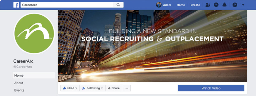 CareerArc's company facebook page for recruitment marketing